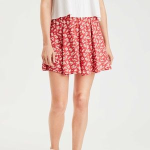 AMERICAN EAGLE FLORAL MINI SKIRT